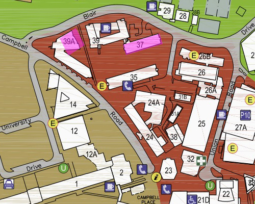St Lucia Campus Map