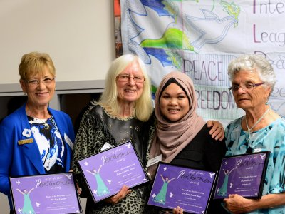 Professor Carole Ferrier honoured with Peace Award